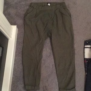 Women's H&M Linen like material drop crouch pants